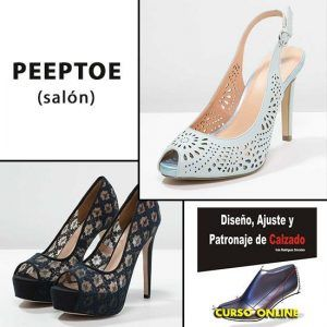 Peeptoes. Modelo Salon negros